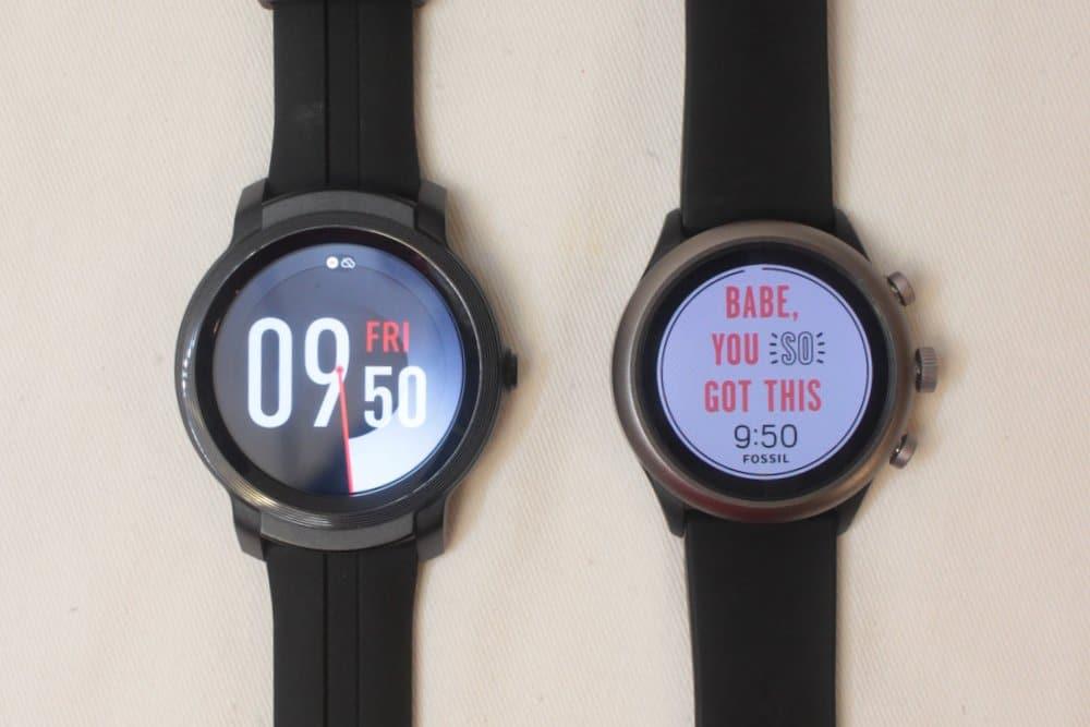ticwatch e2 fossil sport watch face
