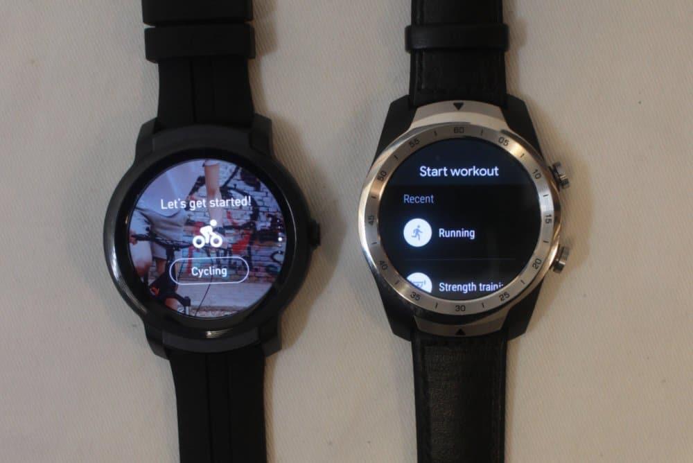 ticwatch e2 vs ticwatch pro exercises