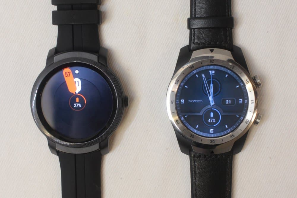 ticwatch e2 vs ticwatch pro watch faces