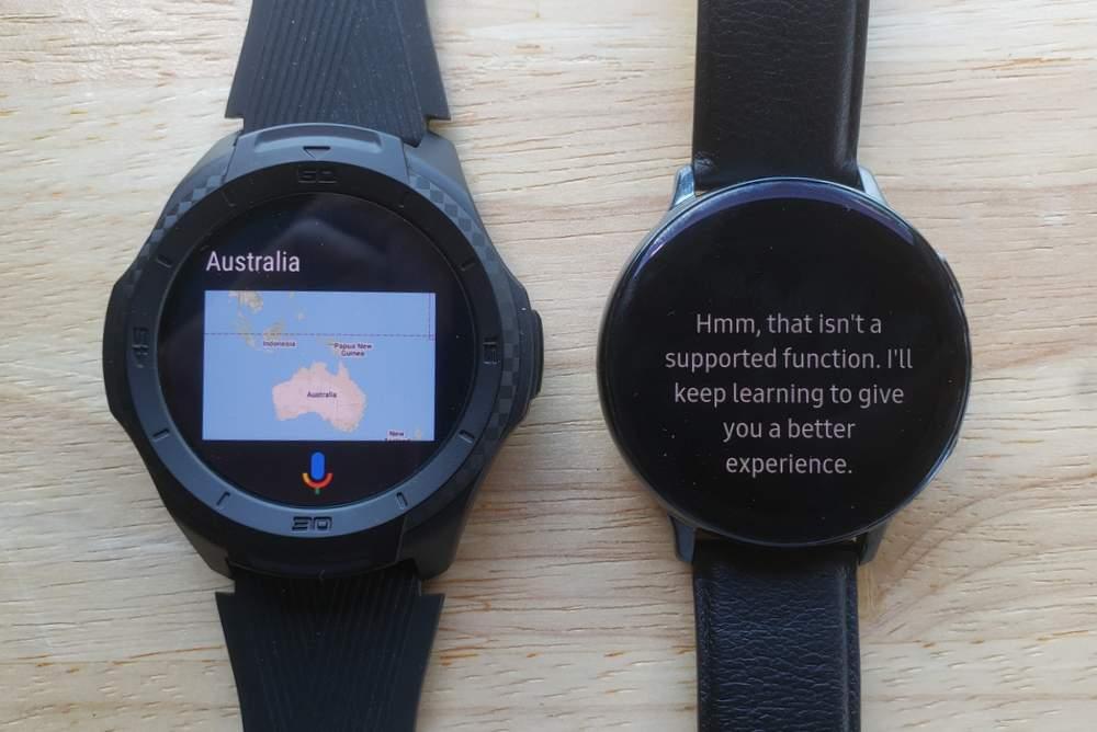 Ticwatch S2 vs Samsung Galaxy Watch Active 2 google assistant bixby