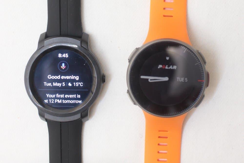 ticwatch e2 vs polar vantage v google assistant