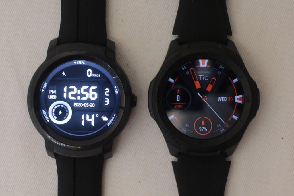 ticwatch e2 vs ticwatch s2 main screen