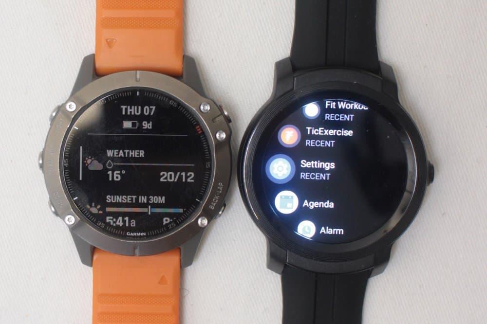 ticwatch e2 vs garmin fenix 6 apps