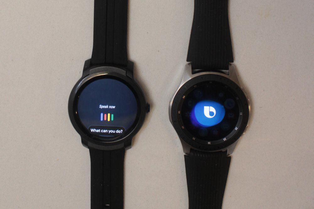 ticwatch e2 vs samsung galaxy watch/active 2 bixby google assistant
