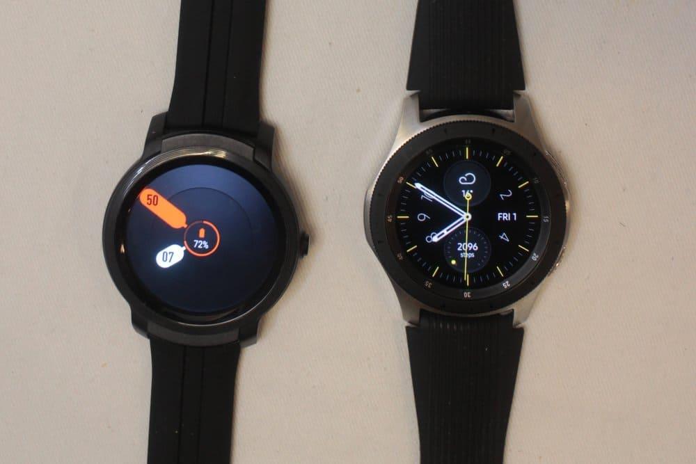 ticwatch e2 vs samsung galaxy watch/active 2