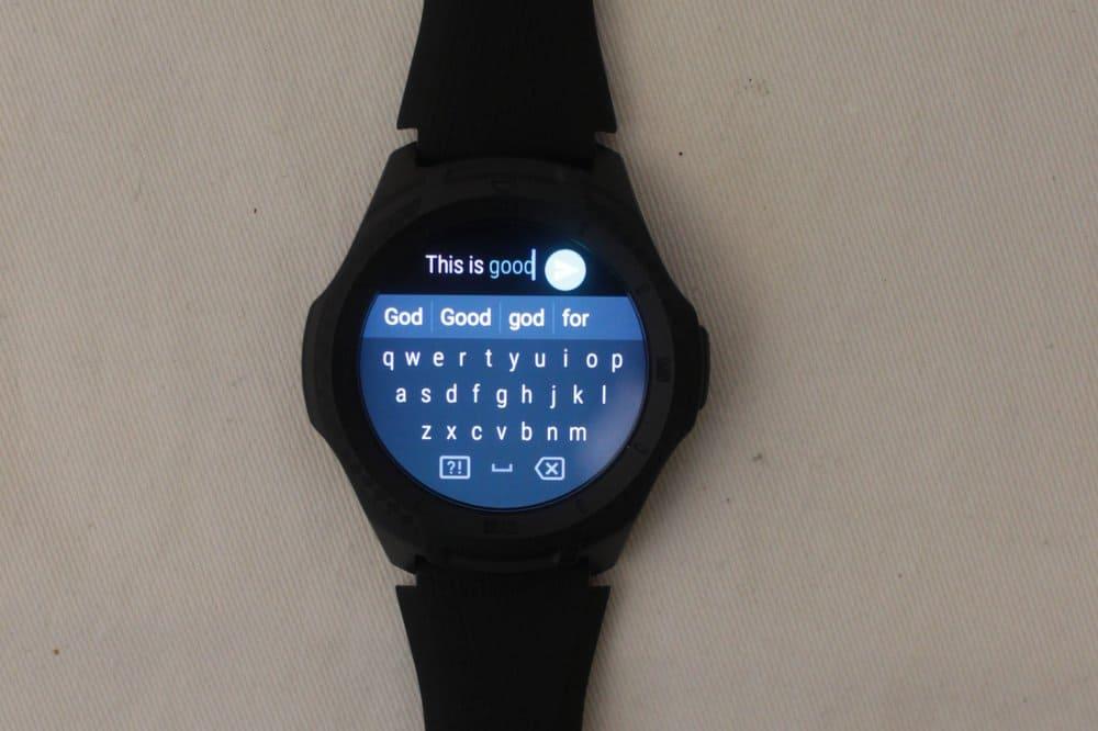 ticwatch e2 keyboard