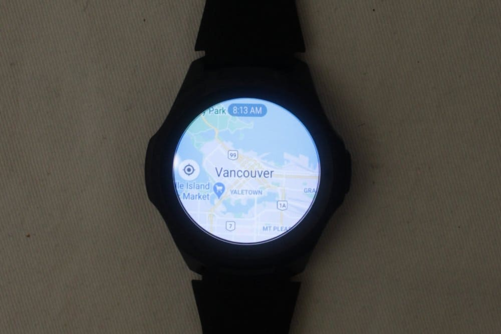 ticwatch e2 google maps