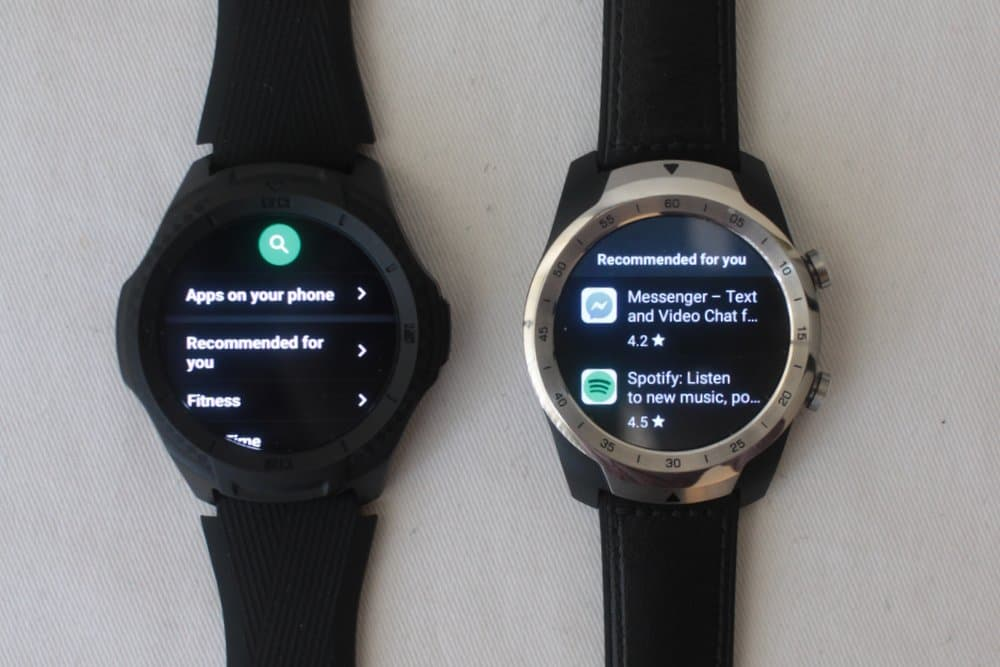 ticwatch s2 vs ticwatch pro apps