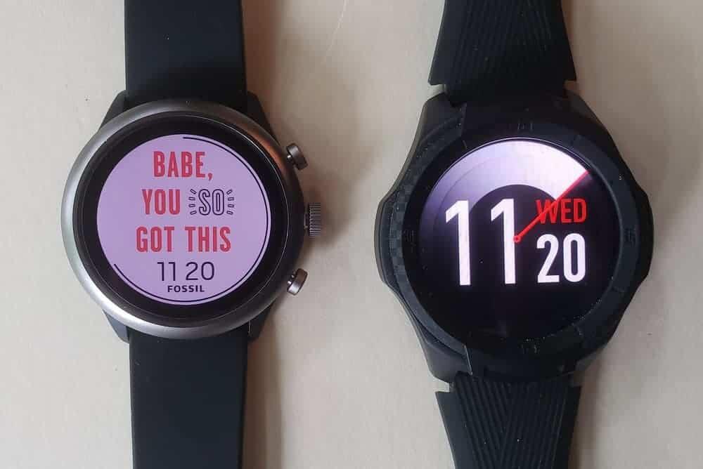 Ticwatch S2 vs Fossil Sport Smartwatch