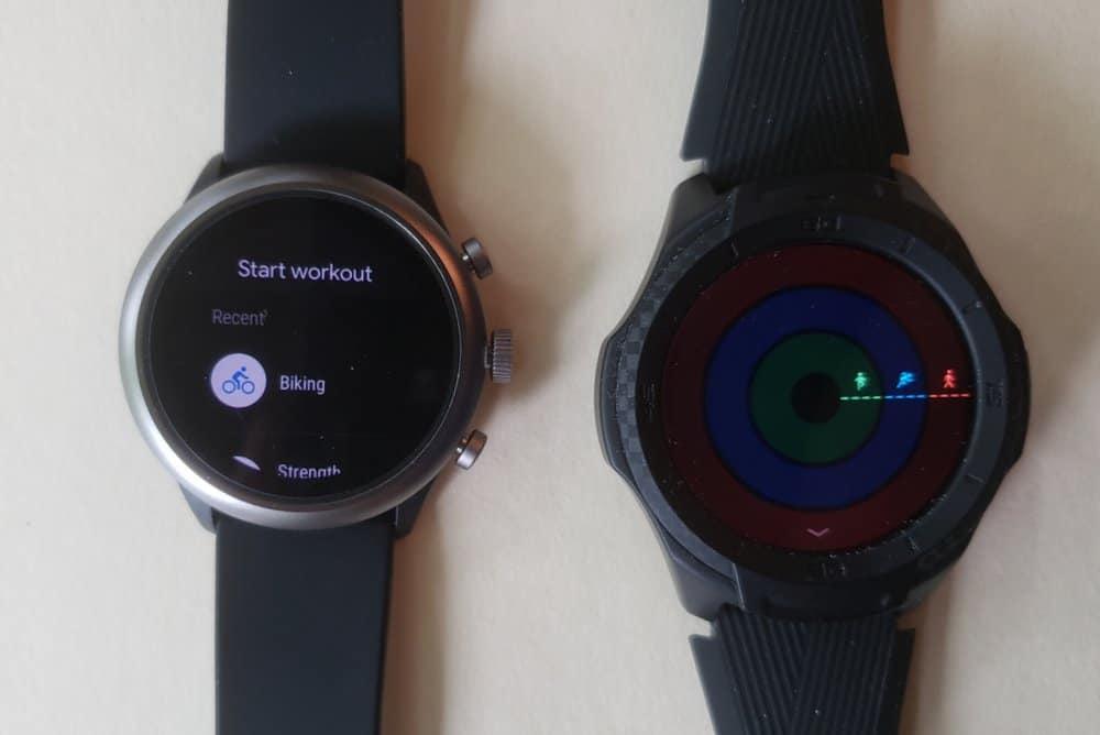 ticwatch s2 vs fossil sport smartwatch tichealth vs google fit