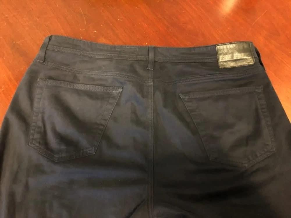 Simple design black AG jeans.