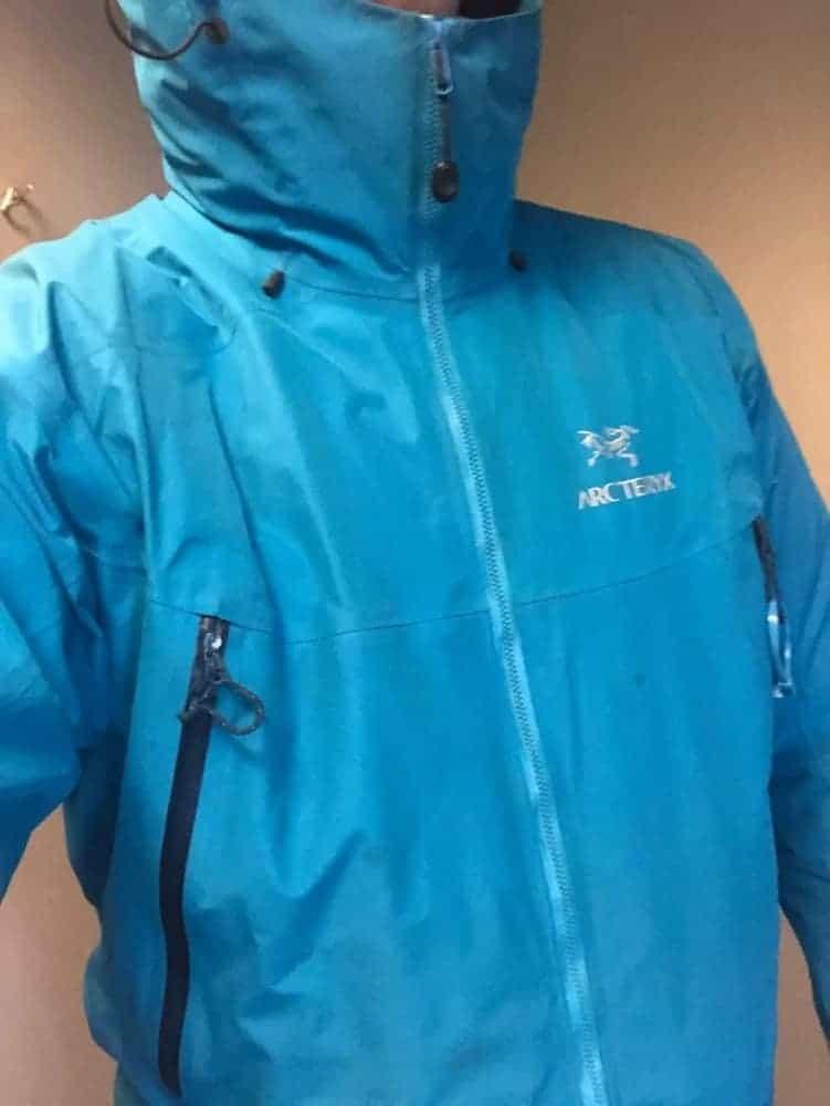 Arcteryx beta lt jacket on top of Canada Goose puffer jacket.