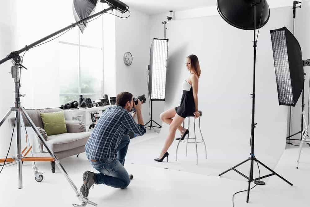 A young and beautiful woman posing for a photo shoot.