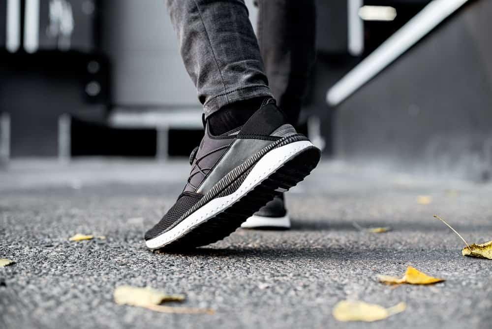Black athletic sneakers