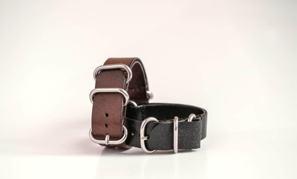 A pair of Zulu watch bands.
