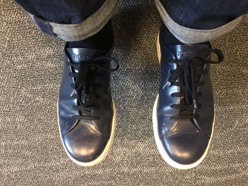 Blue leather Prada casual shoes for men from Harry Rosen