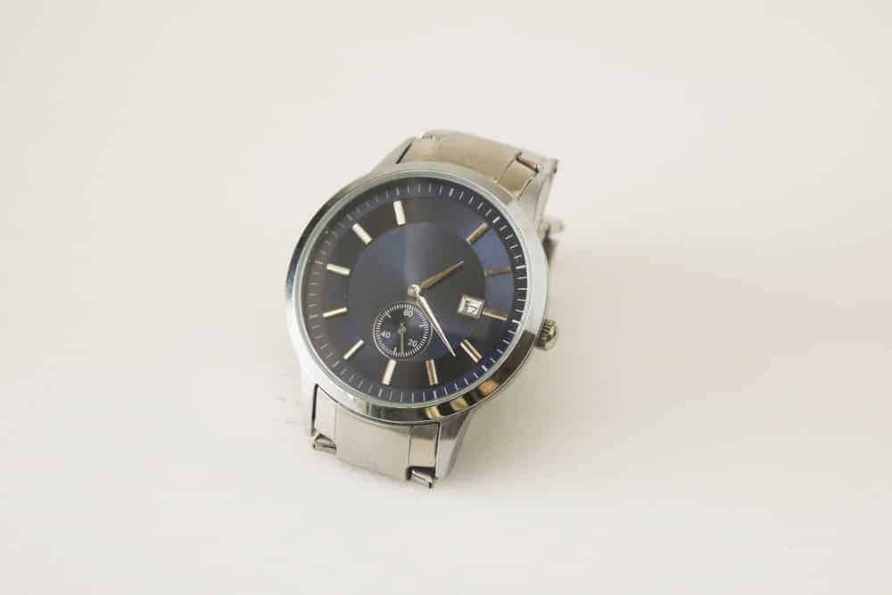 A silver watch with an Engineer bracelet watch band.