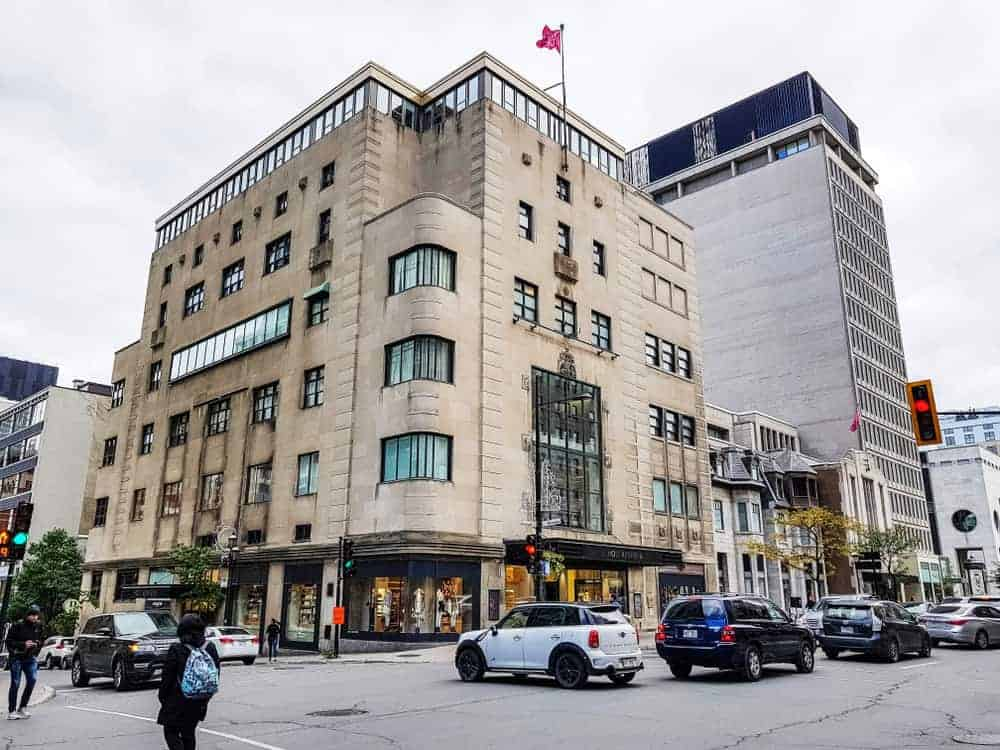 Holt Renfrew Store in downtown Montreal
