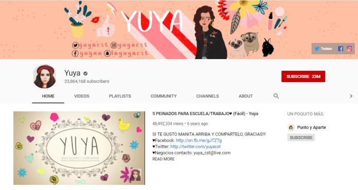 Mariand Castrejon YouTube homepage.