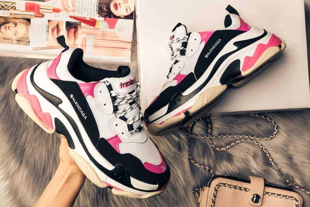 A pair of Nike Balenciaga sneakers.