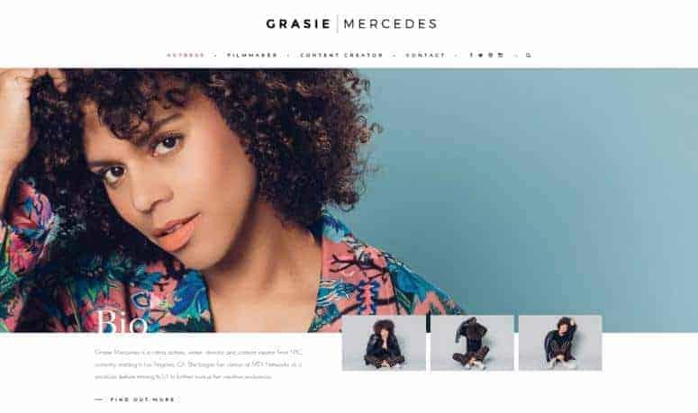 Style Me Grasie website homepage.