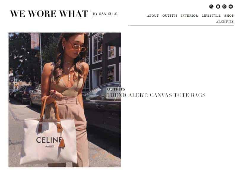We Wore What website homepage.