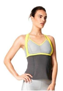 A woman modelling Karma Athletics clothing.