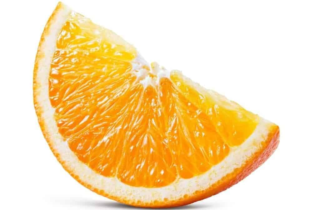 A slice of orange.