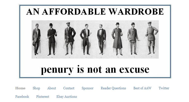 An Affordable Wardrobe website's cover.