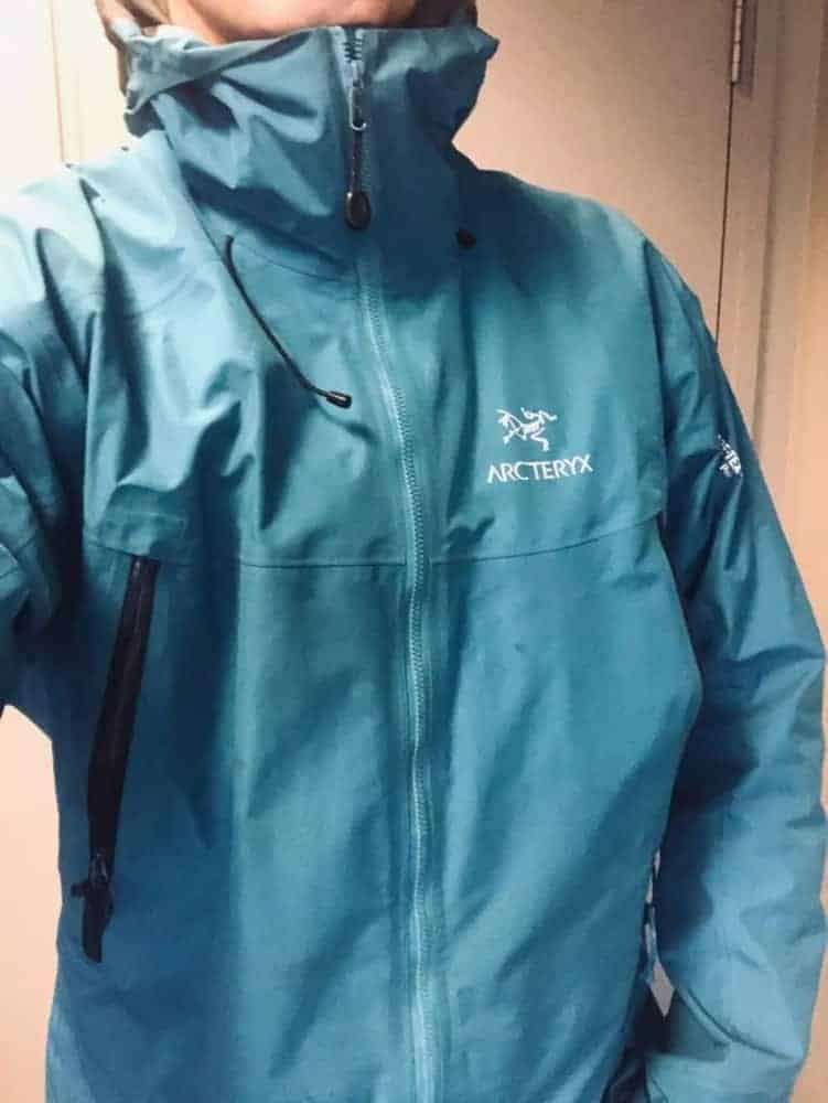 Roominess of the Arc'Teryx Beta LT jacket without being too baggy. This is worn without any jacket underneath.