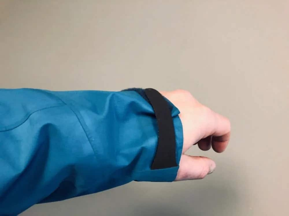 Arm length for Arc'Teryx Beta LT jacket.