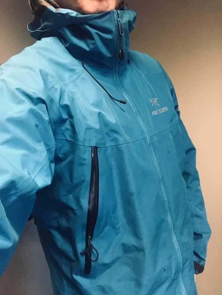 Side view of Arc'Teryx Beta LT jacket for men.