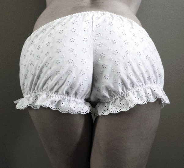 Lace trimmed bloomers