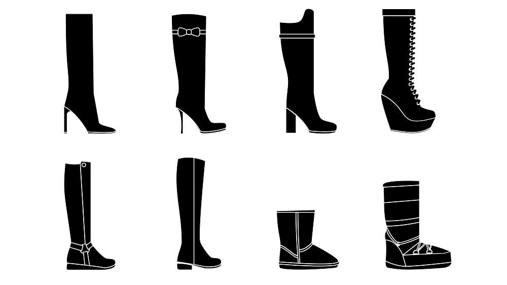 Women boots silhouettes
