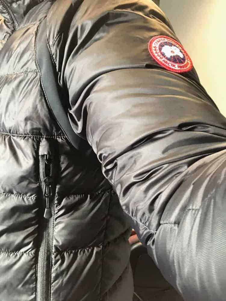The side view of Canada Goose jacket.
