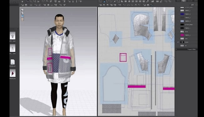 Clo 3D working on a male model for fashion.
