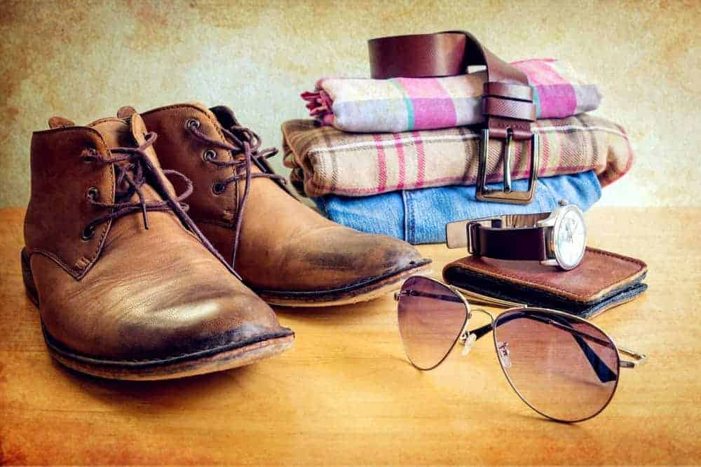 The different fashion accessories for men.