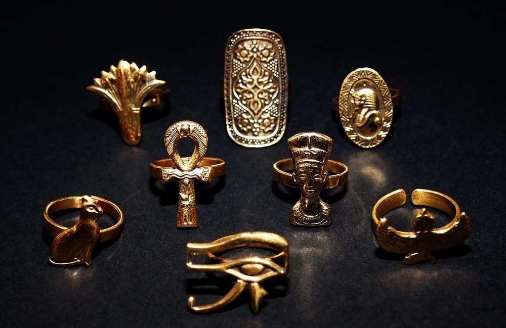 Ancient Egyptian style trendy rings