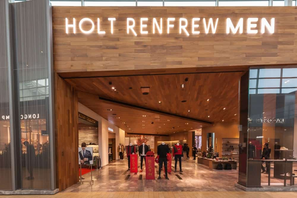 Holt Renfrew store front in the mall in Toronto, Canada.