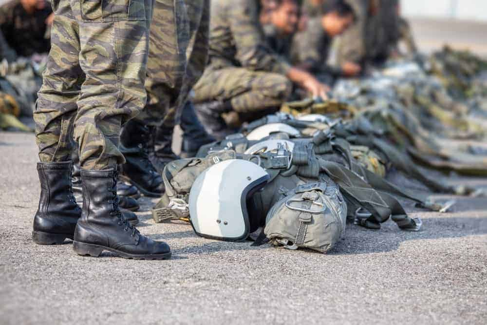 Paratroopers in jump boots.