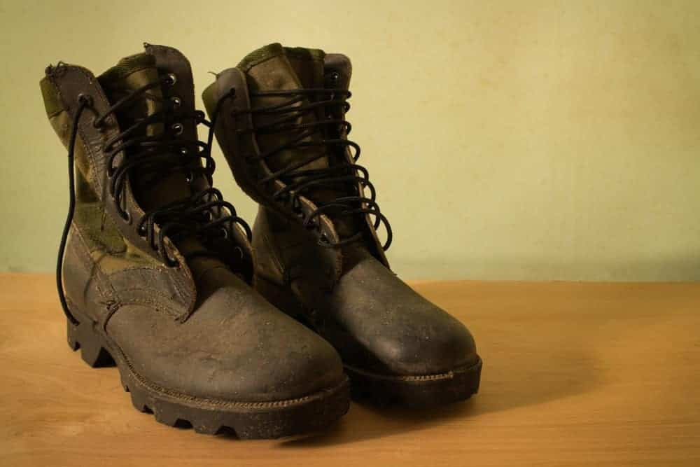 Old jungle boots