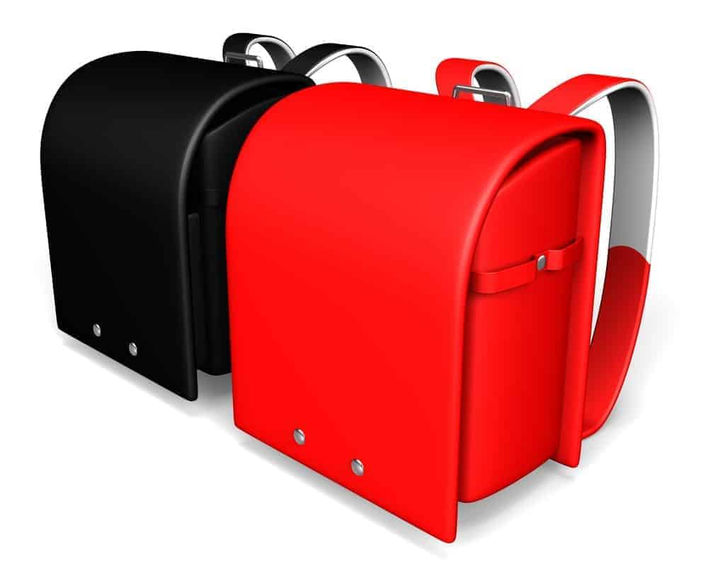 Black and red randoseru bags