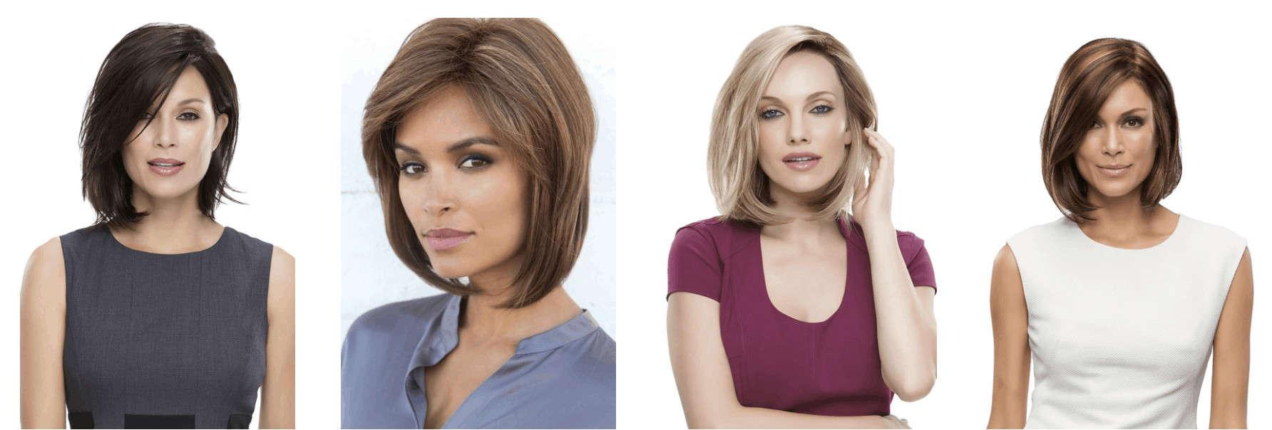 Medium-length wig examples