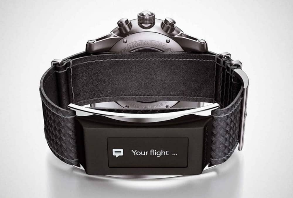 The Montblanc Timewalker with e-Strap.