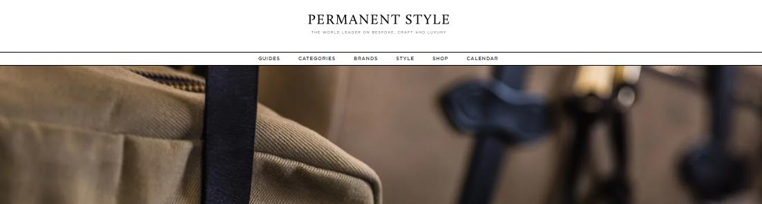 Permanent Style's website homepage.