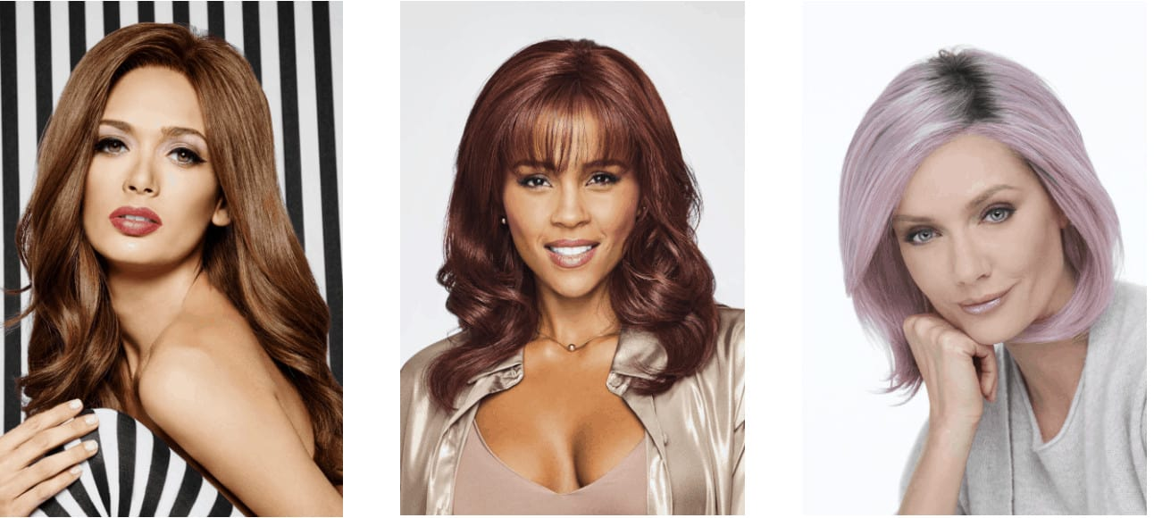 Straight hair wig examples