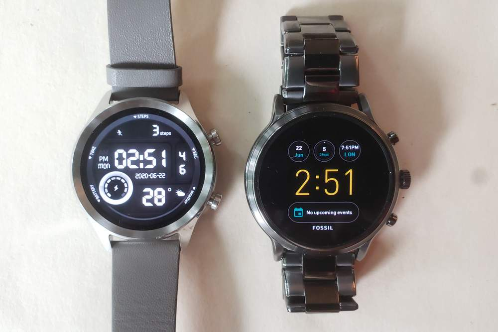 ticwatch c2 vs fossil gen 5 carlyle main screen