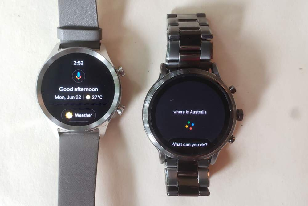 ticwatch c2 vs fossil gen 5 carlyle google assistant