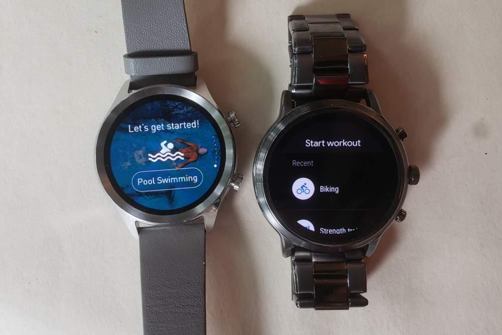 ticwatch c2 vs fossil gen 5 carlyle sports