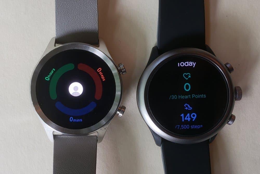 ticwatch c2 vs fossil sport smartwatch google fit tichealth